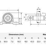 Miniatur Stehlager 15 mm