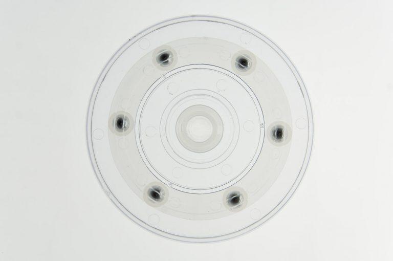 Kunststoff Drehteller Ø 100mm 10cm transparent