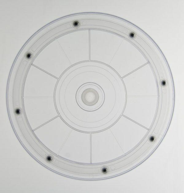 Kunststoff Drehteller Ø 203mm 20cm transparent