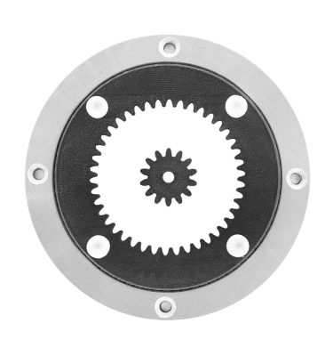 Aluminium Drehkranz 12 cm mit Antrieb und Zahnrad