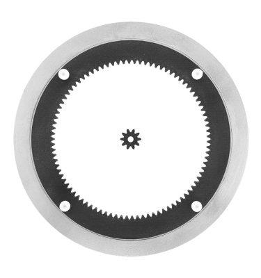 Aluminium Drehkranz 20 cm mit Antrieb und Zahnrad