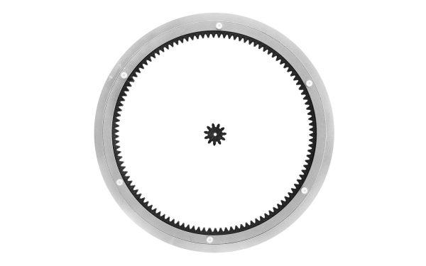 Aluminium Drehkranz 35 cm mit Antrieb und Zahnrad